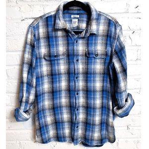 Gap Thick Flannel Button Down Shirt